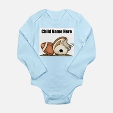 Personalized Football Baby Bodysuit Long Sleeve