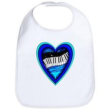Piano Heart Bib