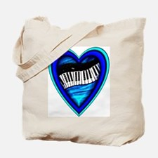 Piano Heart Tote Bag