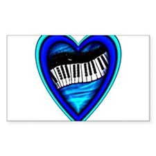 Piano Heart Decal