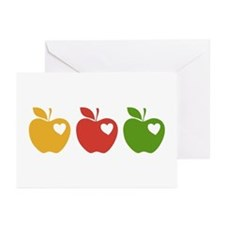 Apple Hearts Love to Teach Greeting Cards (Pk of 2