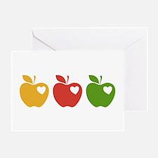 Apple Hearts Love to Teach Greeting Card