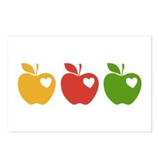 Apple Hearts Love to Teach Postcards (Package of 8