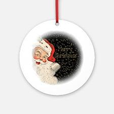 Vintage Santa Claus Ornament (Round)