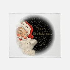 Vintage Santa Claus Throw Blanket