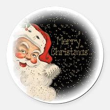 Vintage Santa Claus Round Car Magnet