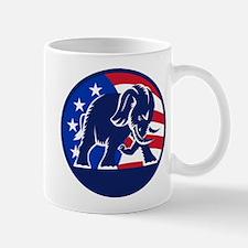 Republican Elephant Mascot USA Flag Mug