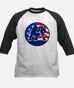 Republican Elephant Mascot USA Flag Tee