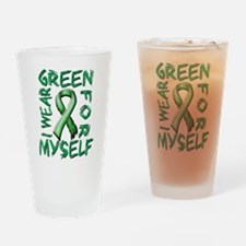 I Wear Green for Myself.png Drinking Glass