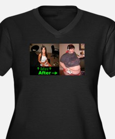 Videogaming Consequences Women's Plus Size V-Neck