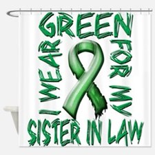 I Wear Green for my Sister in Law.png Shower Curta
