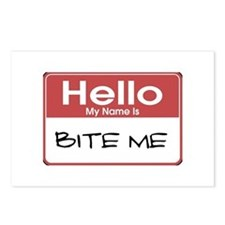 Hello My Name Is Bite Me Postcards (Package of 8)