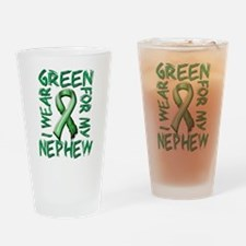 I Wear Green for my Nephew.png Drinking Glass