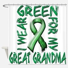 I Wear Green for my Great Grandma.png Shower Curta
