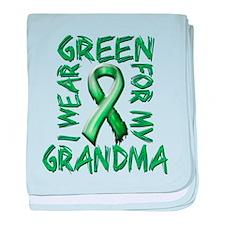 I Wear Green for my Grandma.png baby blanket