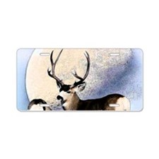 Buck deer moon Aluminum License Plate
