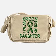 I Wear Green for my Daughter.png Messenger Bag