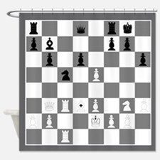 Chessboard Shower Curtain