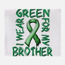 I Wear Green for my Brother.png Throw Blanket