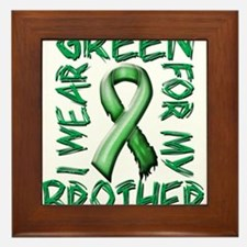 I Wear Green for my Brother.png Framed Tile
