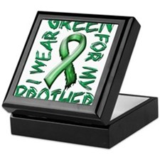 I Wear Green for my Brother.png Keepsake Box