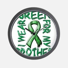 I Wear Green for my Brother.png Wall Clock