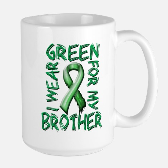 I Wear Green for my Brother.png Large Mug
