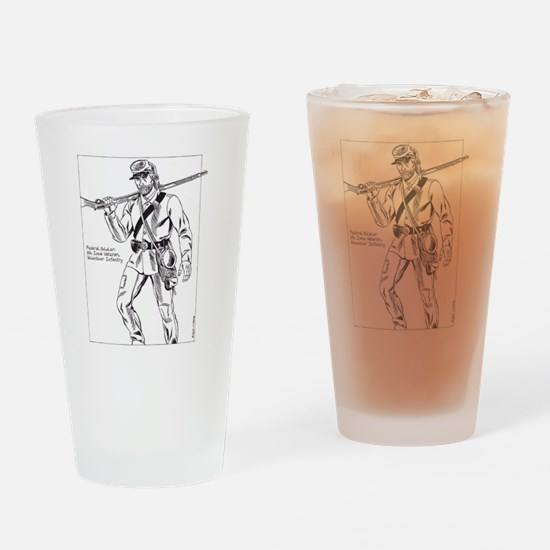 Federal Soldier, 6th Iowa Veteran V Drinking Glass