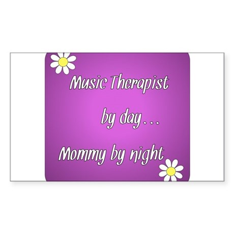 Music Therapist by day Mommy by night Sticker (Rec