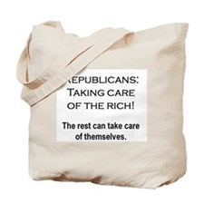 The Rich Need Help Tote Bag