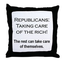 The Rich Need Help Throw Pillow