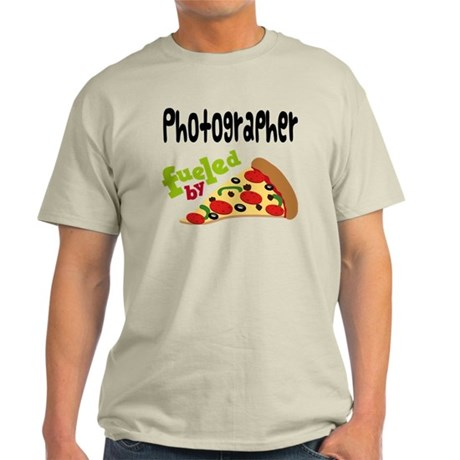 Photographer Funny Pizza Light T-Shirt