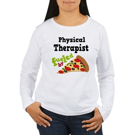 Physical Therapist Pizza Women's Long Sleeve T-Shi