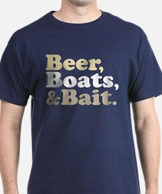 Beer Boats and Bait Fishing T-Shirt