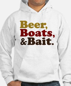 Beer Boats and Bait Fishing Hoodie
