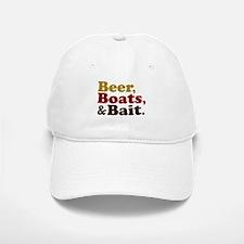 Beer Boats and Bait Fishing Baseball Baseball Cap
