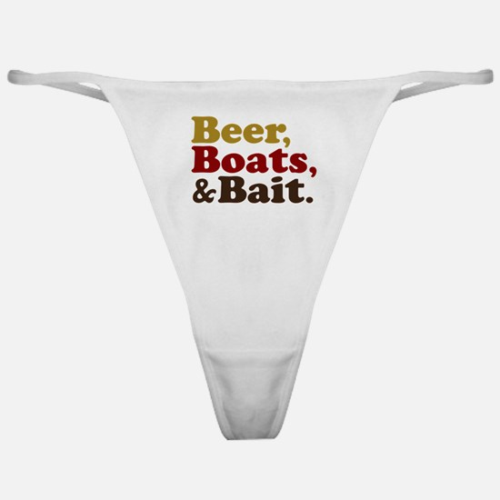 Beer Boats and Bait Fishing Classic Thong