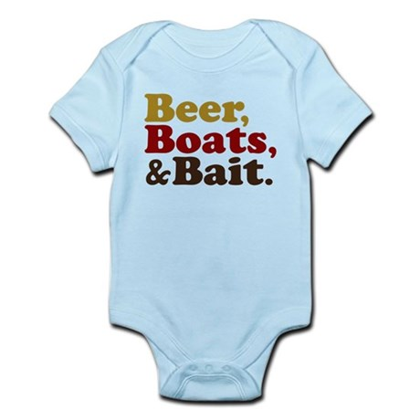 Beer Boats and Bait Fishing Infant Bodysuit