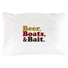 Beer Boats and Bait Fishing Pillow Case