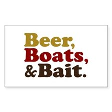 Beer Boats and Bait Fishing Decal