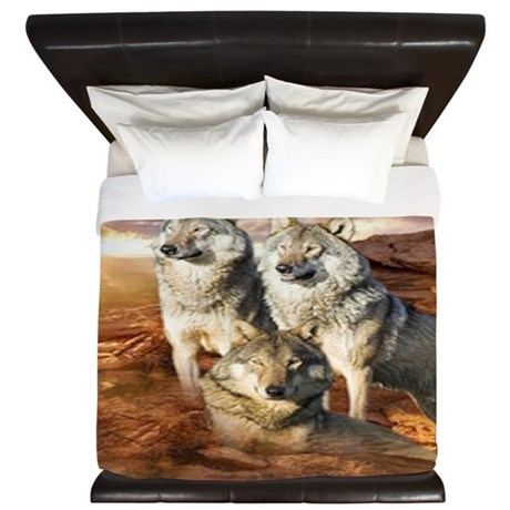 Wolves Trio King Duvet