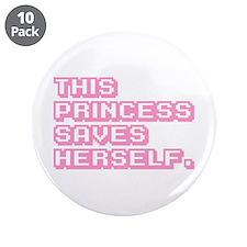 "Feminist Princess 3.5"" Button (10 pack)"
