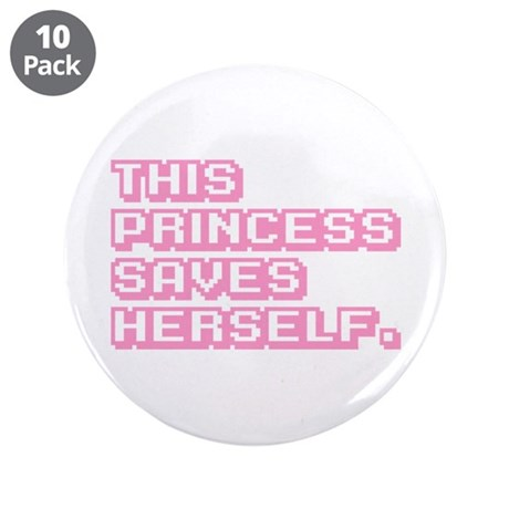 "Feminist Princess 3.5"" Button (10 pack)"
