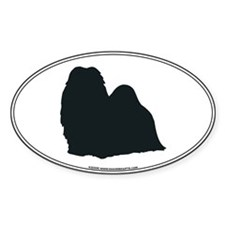 Shih Tzu Silhouette Oval Decal