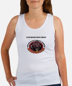 615th Military Police Company with Text Women's Ta
