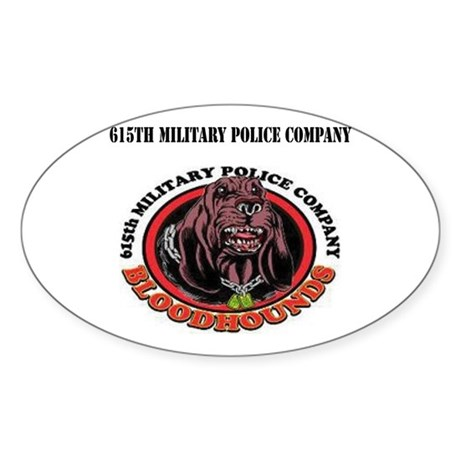 615th Military Police Company with Text Sticker (O