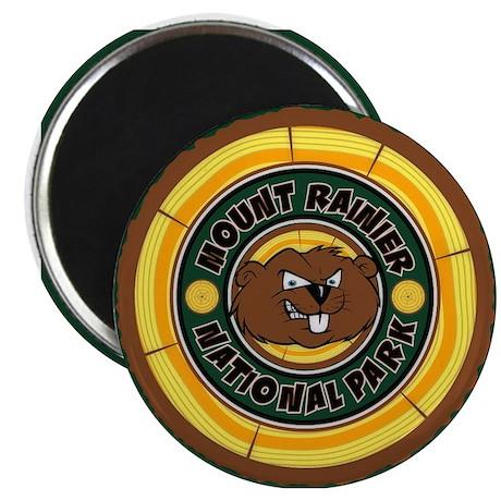 Mt. Rainier Beaver Circle Magnet