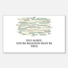 The true religion Sticker (Rectangle)
