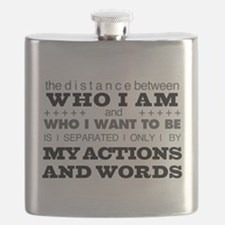 My Actions and Words Grey/Black Flask