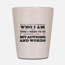 My Actions and Words Grey/Black Shot Glass